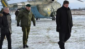Хмельницких спецназовцев посетил глава военного ведомства Литовской республики