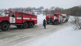 В Теофипольском районе грузовик перекрыл движение транспорта