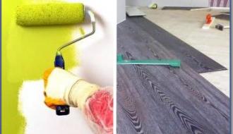 Ремонт полов и стен на кухне
