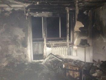 В Городке во время пожара в собственной квартире погиб мужчина